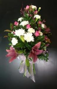 Soft pink and White Sympathy Spray